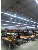 led lighting integral to grocery store remodel